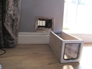 Cat Flap Installation In A Brick Wall Top Cat Flaps