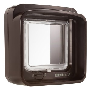 brown sureflap dualscan cat flap
